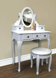 Antique White Bedroom Vanity Desk Vanity Table Antique White Vanity With Tri Fold Mirror And