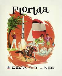 Florida travel pictures images Clipart vintage travel poster florida png