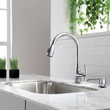 single kitchen faucet kraus premium faucets pull single handle kitchen faucet with