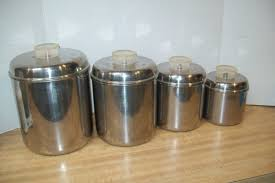 vintage revere ware stainless steel canister set 4 nesting tel u