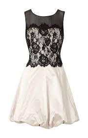 karen millen lace bubble dress black and white cheap karen millen