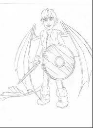 magnificent how to train your dragon hiccup coloring pages with