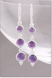 amethyst drop earrings earrings silver amethyst drop earrings at baronessa