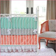 Pink And Aqua Crib Bedding Bedroom Appealing Coral And Turquoise Bedding And Decorating
