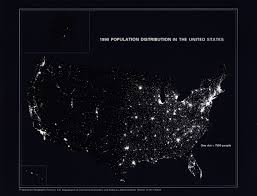United States Map Black And White 1990 Population Distribution In The United States Geography
