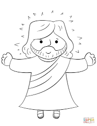 cartoon jesus coloring page within ascension coloring page eson me