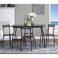 amazon com coavas 5pcs dining table set kitchen furniture