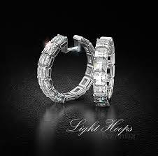 hoop diamond earrings blaze white gold diamond hoop earrings