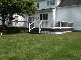 deck railing and spindles vinyl and wood deck rails decks r us
