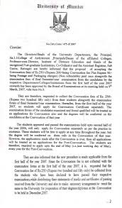 Certification Letter From Bank Mumbai University English Convocation
