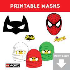 superhero printable masks spiderman ninjago batman easy