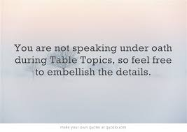 toastmasters table topics tips table topic tip table topics pinterest table topics