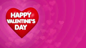 big valentines day happy valentines day background text on the big heart stock