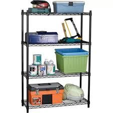 heavy duty wire rack 4 shelves steel garage rolling extra storage