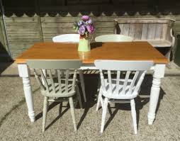 solid pine country kitchen dining table with 4 chairs revival