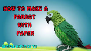 paper crafts how to make a parrot chitti chilakamma youtube