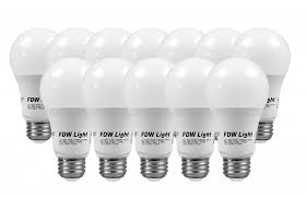 led light bulb wattage chart new 60 watt equivalent slimstyle a19 led light bulb soft white 3000k