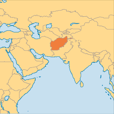 Middle East On World Map by Afghanistan Operation World