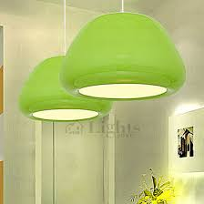Green Pendant Lights Fresh Green Aluminum Painting Technology Large Pendant Lights