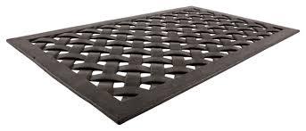 Long Doormats Woven Recycled Rubber Doormat Contemporary Doormats By Iuc