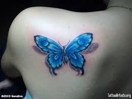 blue butterfly butterfly tattoos tattoo artists org