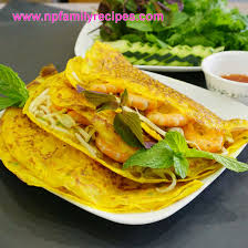 cuisine crepe sizzling crepe recipe bánh xèo npfamily recipes