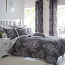 charcoal bedding versailles charcoal reversible duvet cover and pillowcase set dunelm