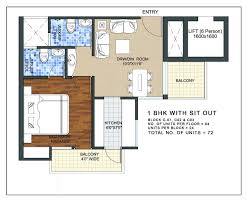 floor plan 1 bhk type a vatika life style homes pinterest