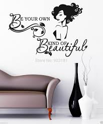 girl be your own kind of beautiful wall art stickers decal diy girl be your own kind of beautiful wall art stickers decal diy home