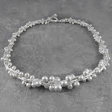 solid sterling silver necklace images Graduated statement solid sterling silver necklace by otis jaxon jpg