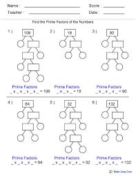 factoring gcf free printable worksheets trials ireland