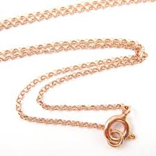 gold chain necklace sizes images Rose gold plated 925 sterling silver chain necklace bracelet jpeg