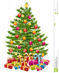 beautiful christmas tree with a lot of gifts stock photos image
