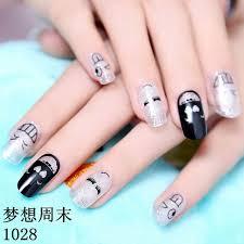 goodtake 1sheet diy designs nail art eyelash water stickers