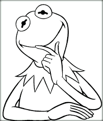 kermit frog coloring pages printable the colouring pictures sheets