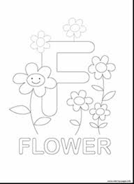 awesome printable flower coloring pages letter with letter f