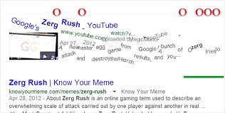 Zerg Rush Know Your Meme - awesome easter egg features hidden in google chrome