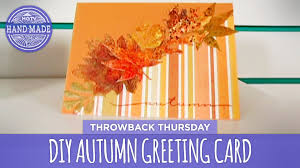 making thanksgiving cards diy autumn greeting card throwback thursday hgtv handmade