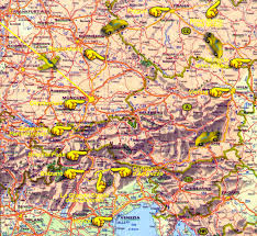Dolomites Italy Map by Germany Austria Italy Czech Republic October 2001