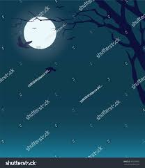 halloween background vector midnight sky dry tree full moon stock vector 478769902 shutterstock