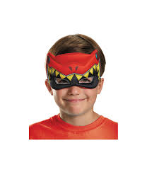 power rangers halloween costume red power ranger dino charge big boys puffy mask boys costumes