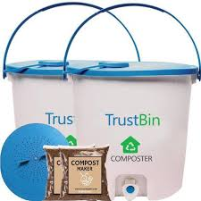 trustbasket trust bin indoor composter kit for a family of 2