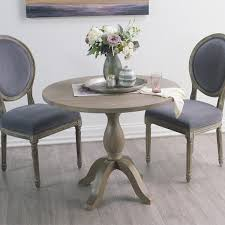 round weathered gray wood jozy drop leaf table french romance