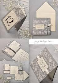 vintage lace wedding invitations grey vintage lace wedding invitation suite wedding invitation