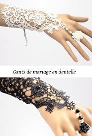 gant mariage gants mariage en dentelle perles bague