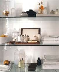 glass shelves for kitchen cabinets three tiers wall mount cabinet shelves attached on white ceramic