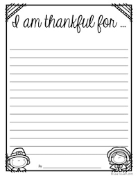 i am thankful for free thanksgiving writing paper tpt free