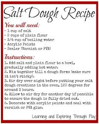 salt dough ornament recipe inspiration