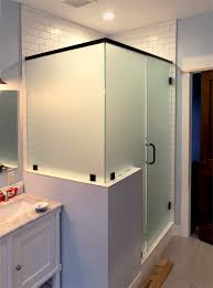 Frosted heavy glass shower enclosure adds some privacy  Area Glass
