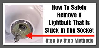 oven light cover stuck how to safely remove a broken light bulb that is stuck in the socket